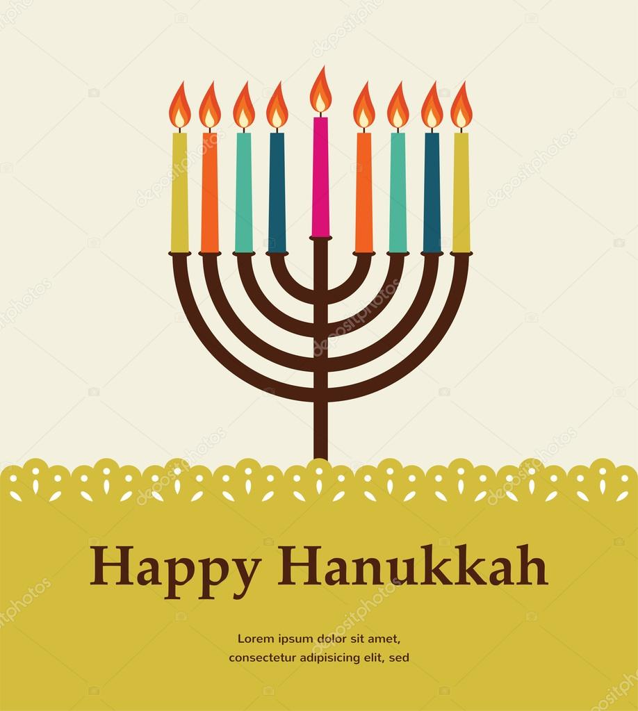 Chanukah Stock Vectors Royalty Free Illustrations Menorah Lighting Diagram Depositphotos