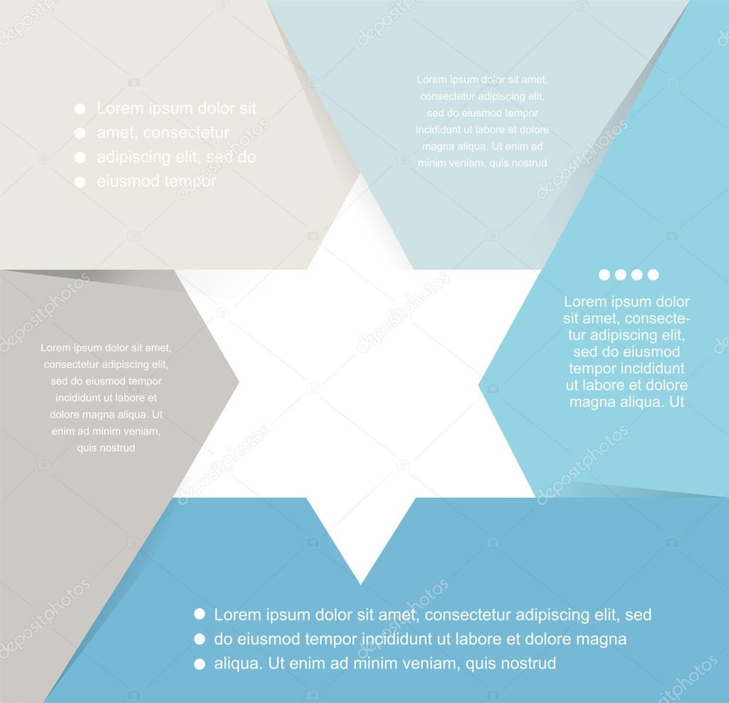 David Star Design Template And Infographics Abstract Background Diagram Stock Vector