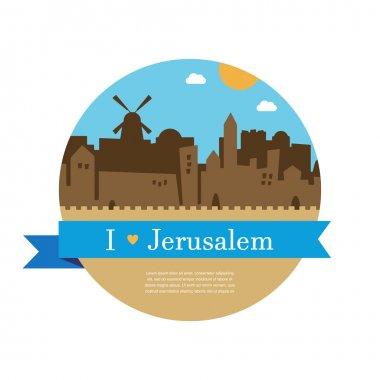 skyline of old city of Jerusalem