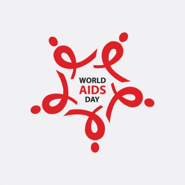 WORLD AIDS DAY. AIDS ribbon arranged as a star. vector for Logo Design.