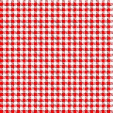 Seamless checkered tablecloth pattern