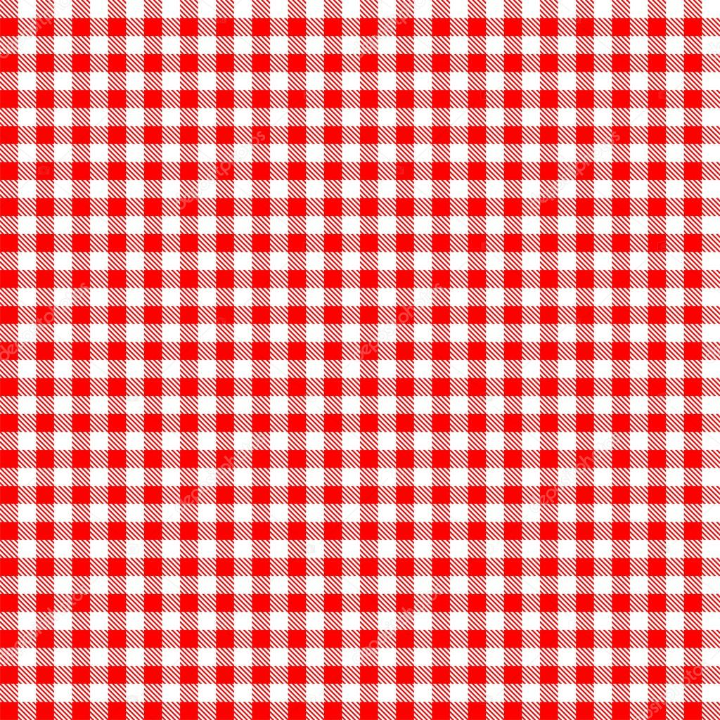 Seamless Checkered Tablecloth Pattern U2014 Stock Vector