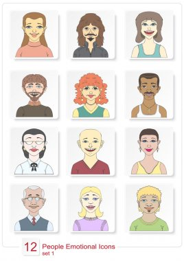 Set emotional people icons color