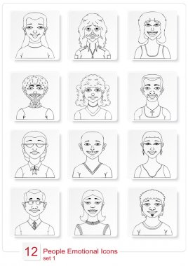 Set emotional people icons