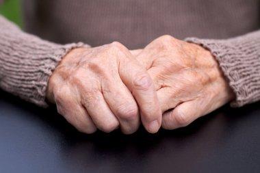Wrinkled hands