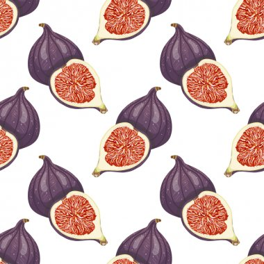 Seamless pattern with figs