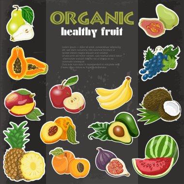 Organic healthy fruit background