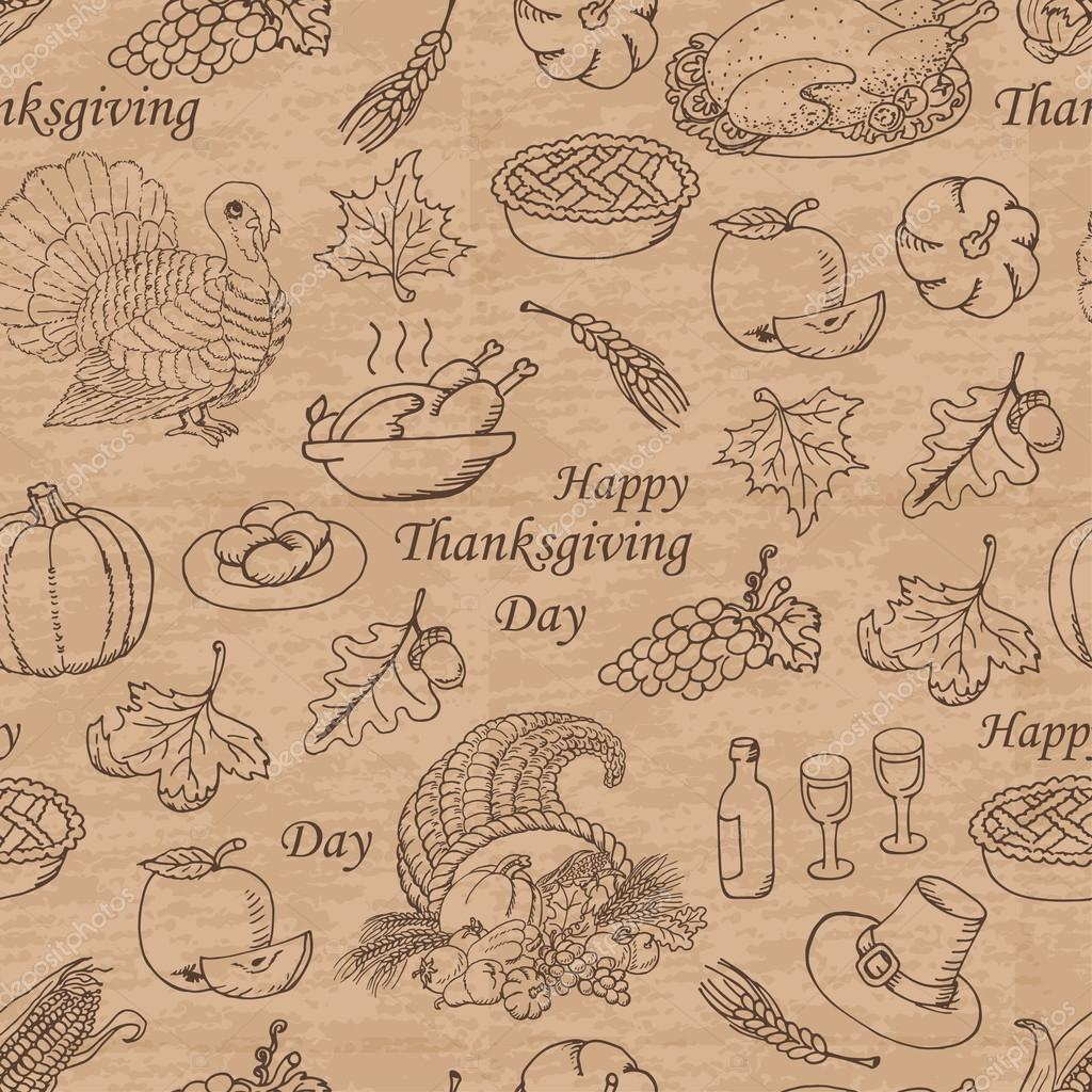 Thanksgiving seamless pattern