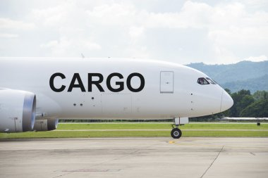 Cargo plane on the runway