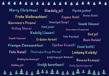 Christmas card, polylanguage