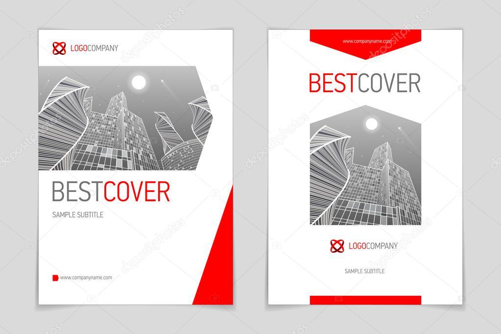 Decken Sie, Broschüre Broschüre Business und Architektur, modernes ...