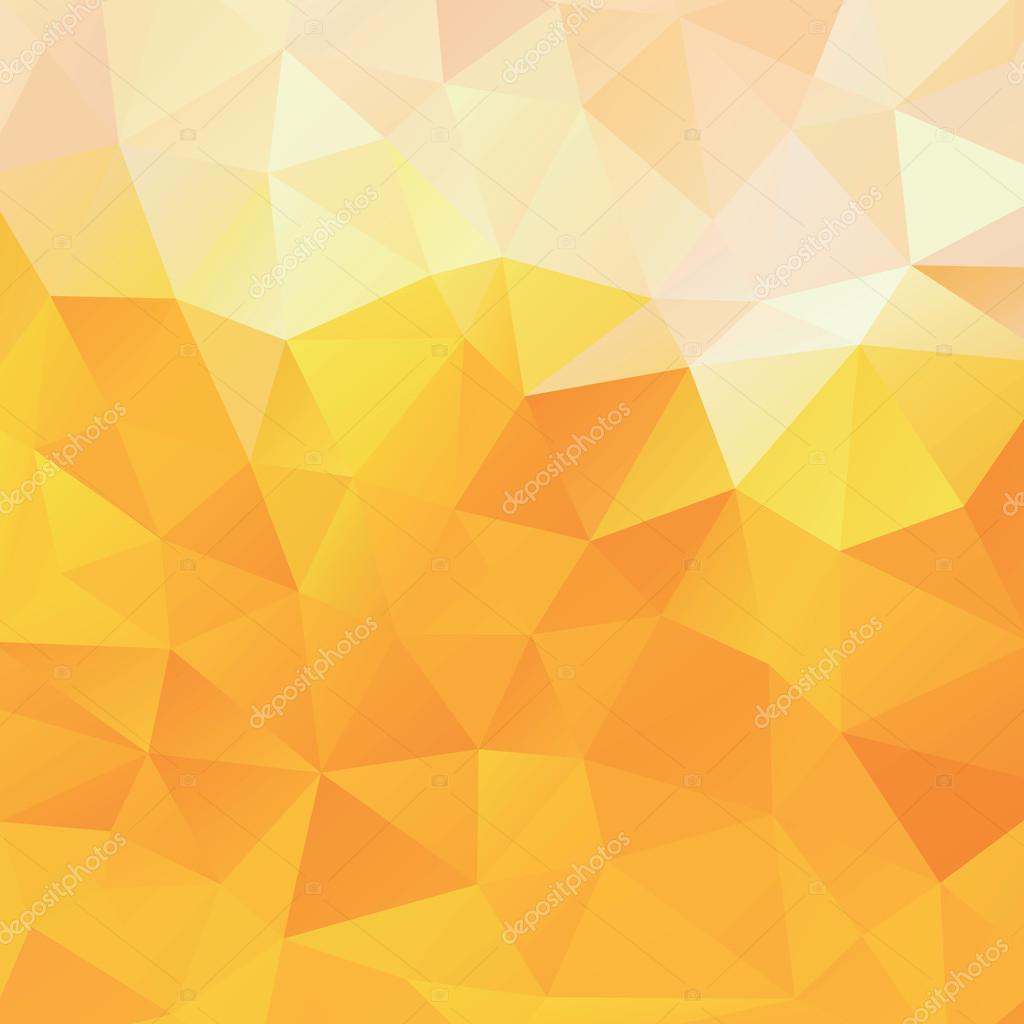 Background Of The Triangles, Orange And Yellow Vector