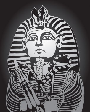 Vector drawing pharaoh, ancient art, ancient Egypt, design