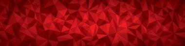"""Картина, постер, плакат, фотообои """"абстрактная векторная геометрия фона, красные плоскости панорама """", артикул 65162537"""