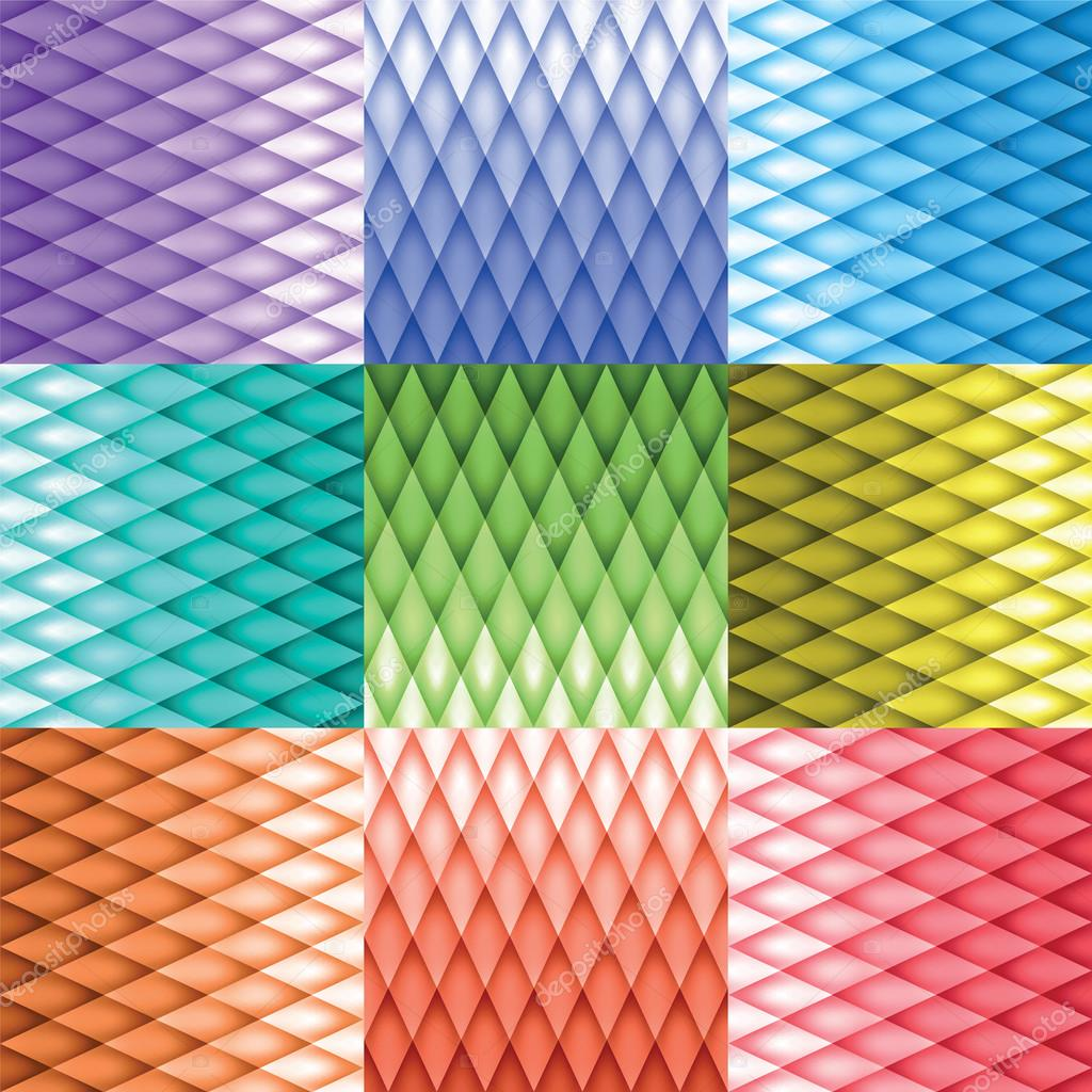 Retro background, pattern rhombs, mesh gradient, transition from light to dark, vector background, color version