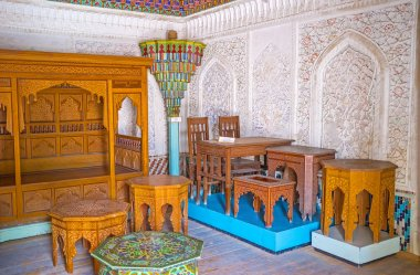 The traditional Uzbek furniture