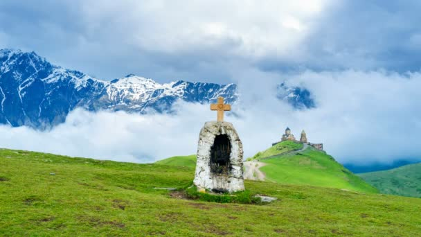 The chapel in mountains