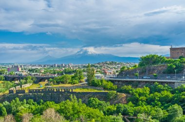 The cityscape with Ararat Mount