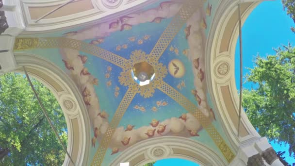The painted ceiling