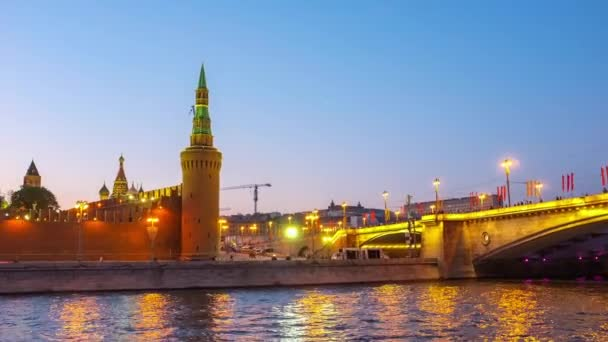 The evening view of the Moscow Kremlin