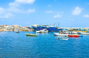The colorful boats