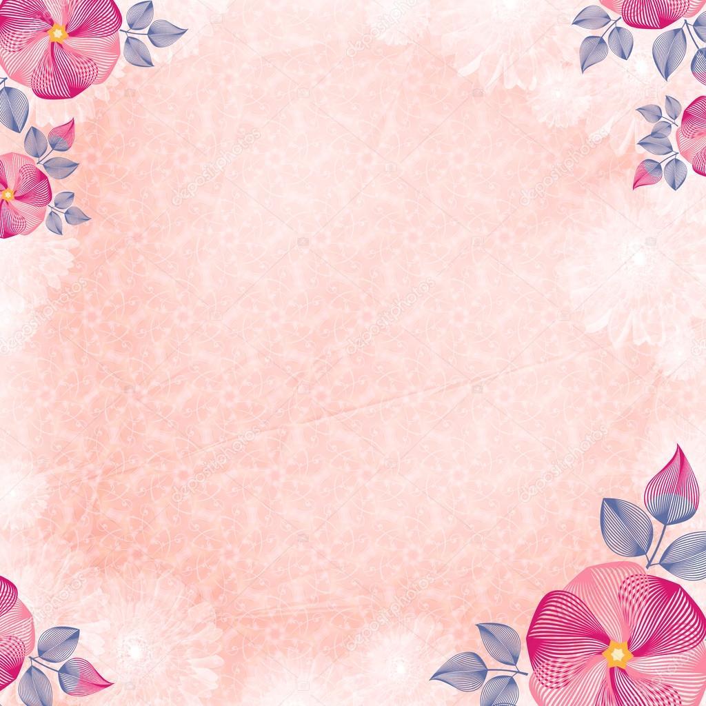 Arrugado Papel De Pared Con Las Esquinas De La Flor Crema