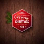 Fotografie typografische Bezeichnung für frohe Weihnachten und glückliches neues Jahr