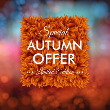 Special autumn offer advertisement poster.