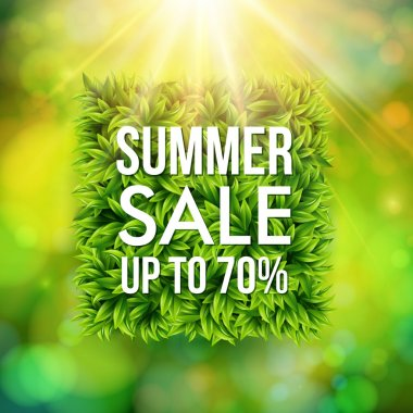 Summer sale advertisement poster.