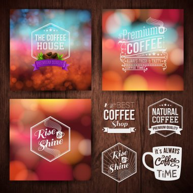 Premium coffee advertising posters