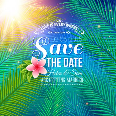 Save the Date Concept with Nature Style