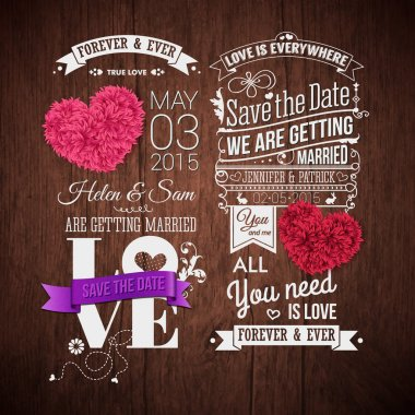 Wooden background, typography design