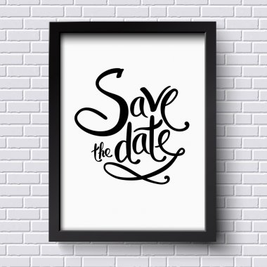 Conceptual Save the Date Texts on a Frame