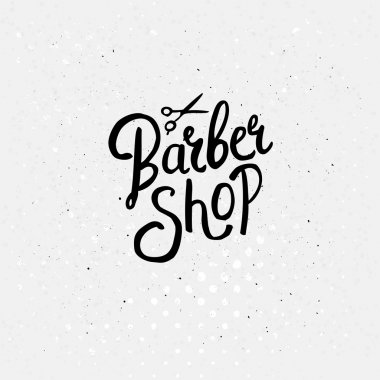 Simple Text Design for Barber Shop Concept
