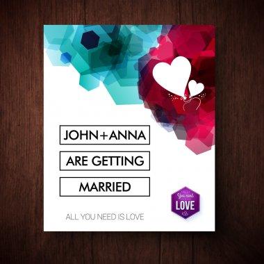 Elegant eye-catching wedding invitation design