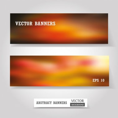 Web and mobile banners set, business card or flyer design