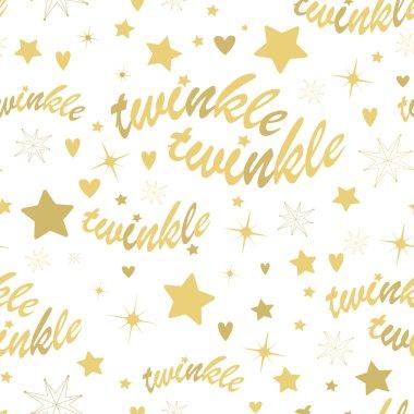 Twinkle stars seamless pattern