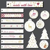 Photo Christmas gift tags set.