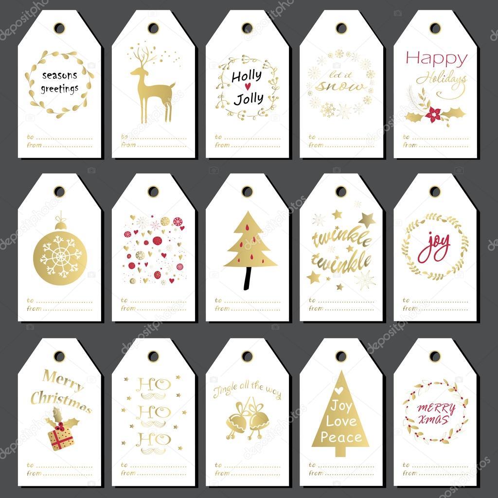 vector etiqueta de regalo etiquetas de regalo de navidad juego