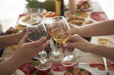 Glasses full of good wine