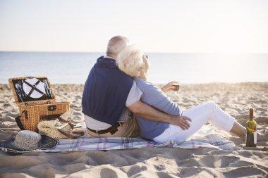 Senior marriage on the beach