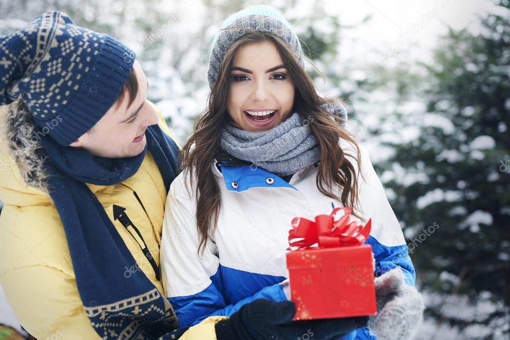 Sharing presents on Christmas
