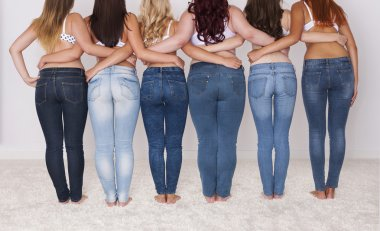 Different shapes of buttocks
