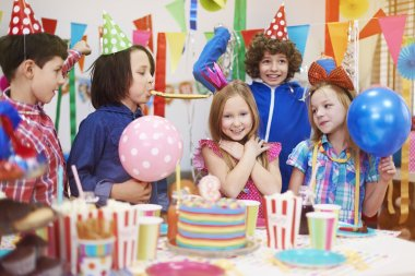 Children at the birthday party