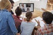 Videokonferenz mit Mitarbeitern