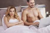 Fotografie Couple have serious problem in relationship