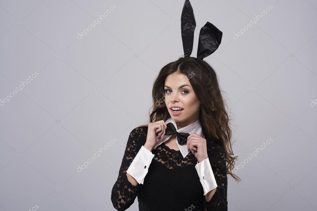 Sexy Brunette In Konijn Kostuum Stockfoto Gpointstudio 96927502