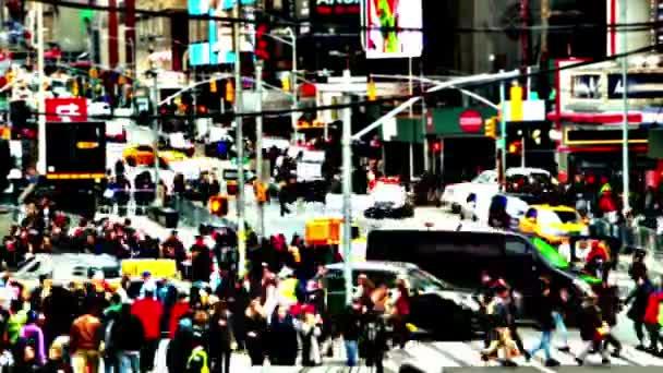 Dopravní a dav. Super vysoký kontrast. Rychlý pohyb
