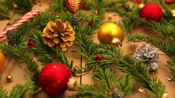 Spruce Branches and Decoration and Gifts