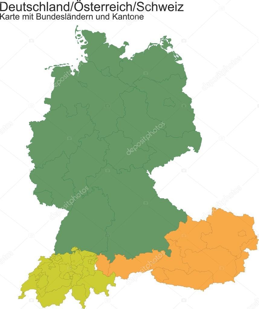 Map Of Germany Austria Switzerland Stock Photo PASob - Austria germany map
